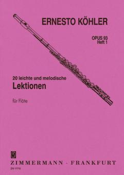20 leçons faciles et mélodiques op. 93 Vol. 1Standard