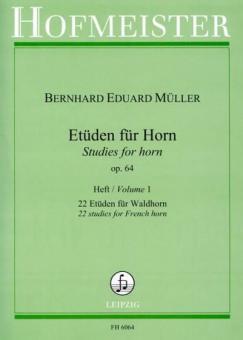 Studies for Horn Op. 64 Vol. 1
