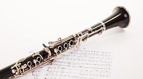Notes de musique pour clarinette